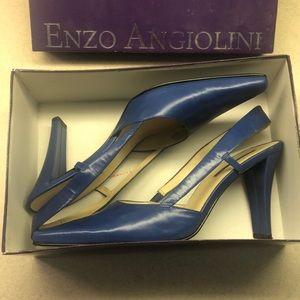 Like New Enzo Angiolini women's blue high heels